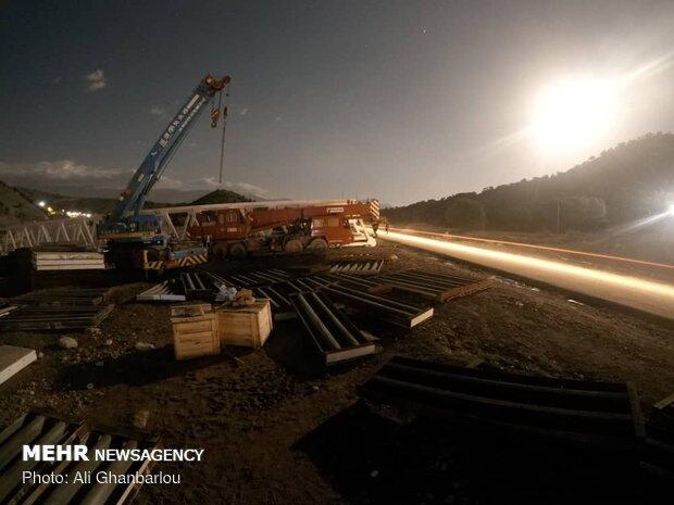 ساخت ، حمل و نصب پل های عظیم آهنی در لرستان