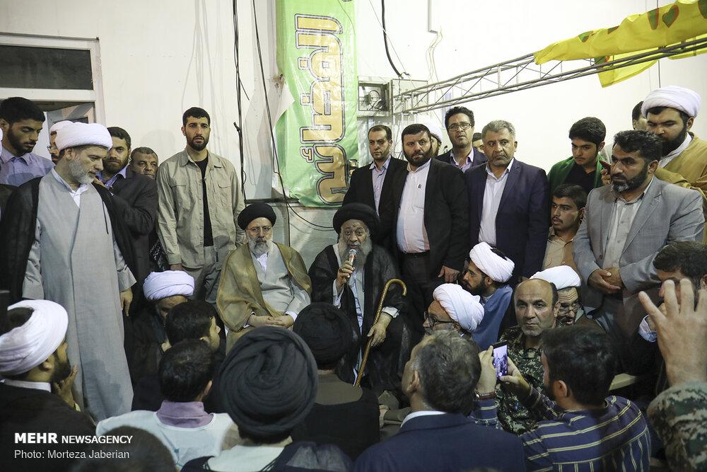 بازدید رئیس قوه قضائیه از ستاد مردمی کمک به سیلزدگان خوزستان