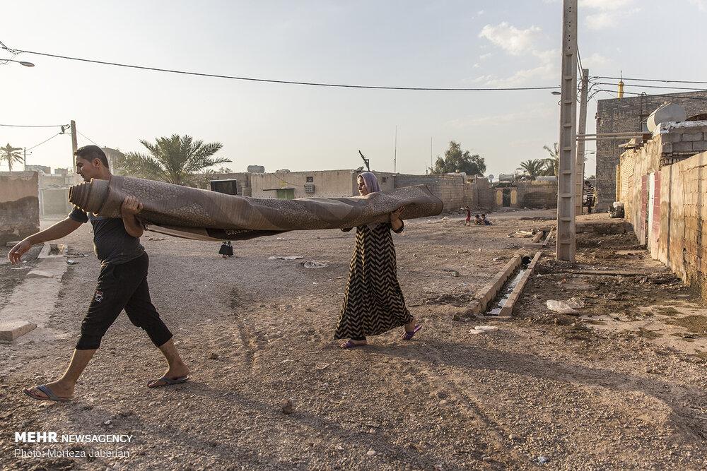 Image result for بازگشت سیلزدگان خوزستان به منزل
