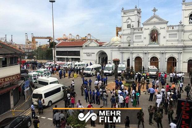 Sri Lanka'da meydana gelen patlamadan görüntüler