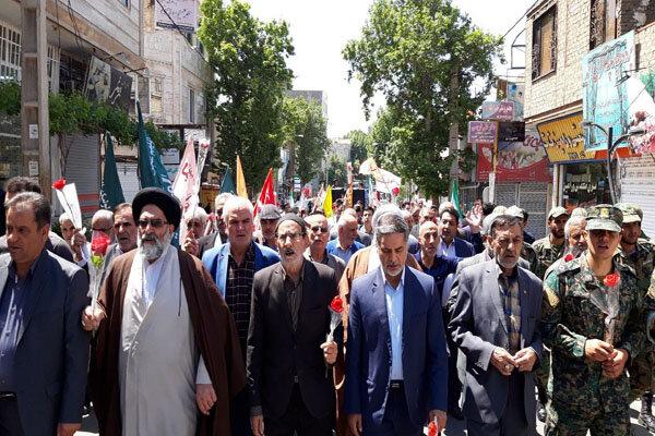 راهپیمایی منتظران ظهور در ورامین برگزار شد