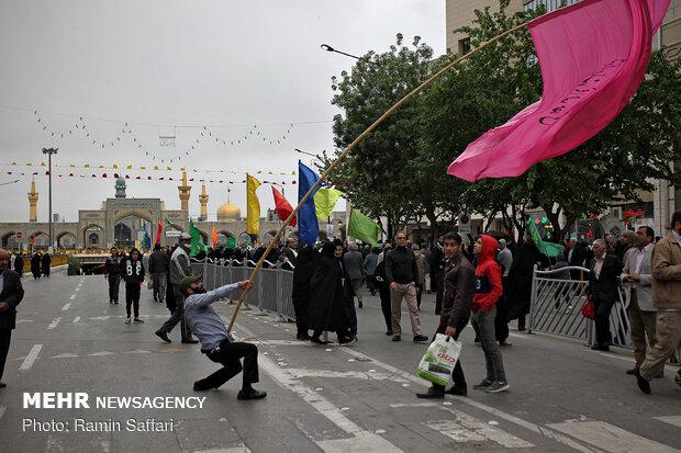 اجتماع منتظري الظهور في مدينة مشهد ساحة الشهداء