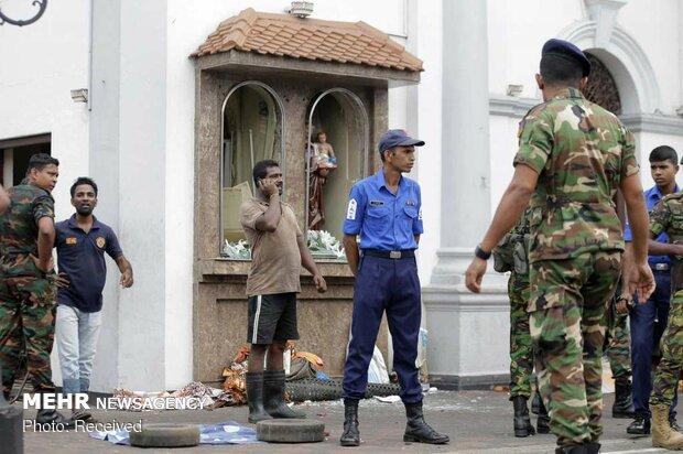 انفجار شش بمب در سریلانکا