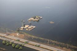 Aerial photos of flood-hit areas in Khuzestan, Lorestan provinces