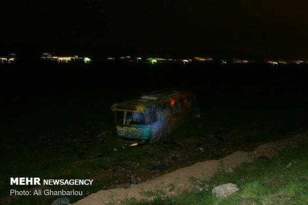 واژگونی اتوبوس در آزادراه زنجان - تبریز ۲۵ مصدوم برجا گذاشت