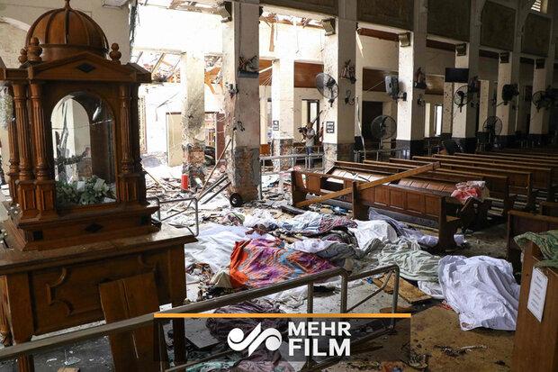 سری لنکا میں بم دھماکوں کے ملبہ سے لاشوں کو نکالنے کا کام جاری