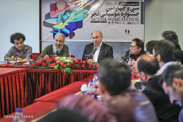Press conf. for 34th Fajr Intl. Music Festival