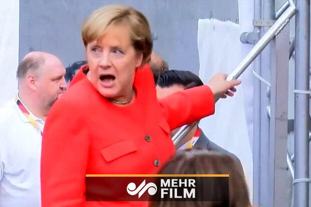 """برخورد رئیس مجلس آلمان با  """"آنگلا مرکل"""""""