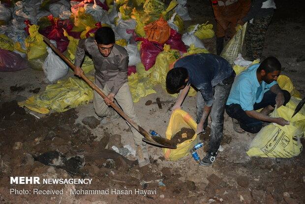 احداث سیل بند در جاده آبادان ماهشهر