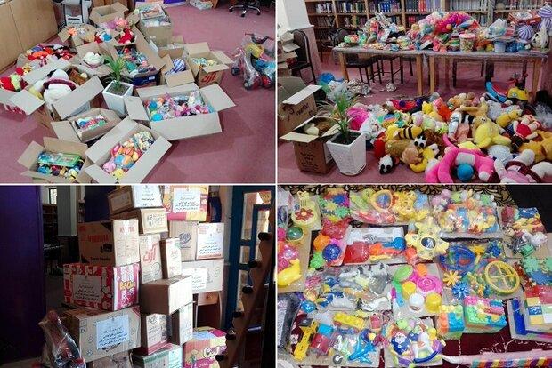 آبپخشیها ۱۰۰۰ قطعه وسایل بازی برای سیلزدگان فرستادند