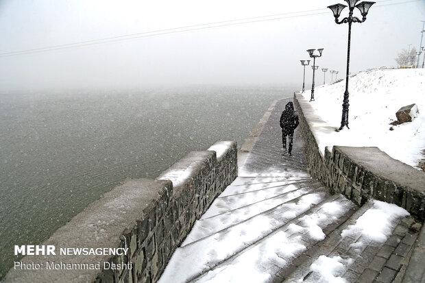 Ardebil covered in snow