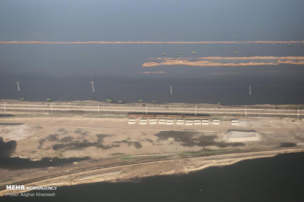 تصاویر هوایی از مناطق سیل زده خوزستان