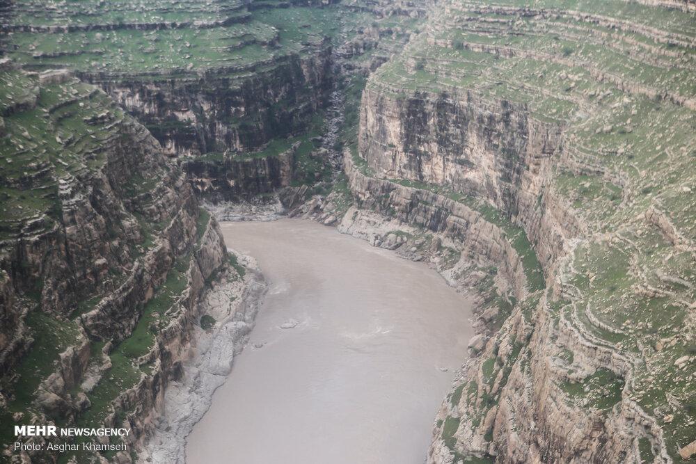 تصاویر هوایی از مناطق سیل زده لرستان