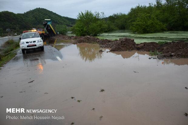 تالاب استیل شهرستان مرزی آستارا سرریز شد