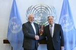 Zarif, Guterres hold talks in NY