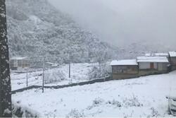 بارش برف بهاری در گلستان/ ارتفاعات استان سفیدپوش شد