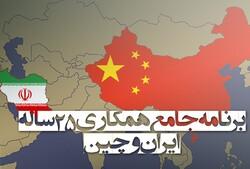 برنامه جامع همکاری ٢۵ ساله ایران و چین تدوین می شود