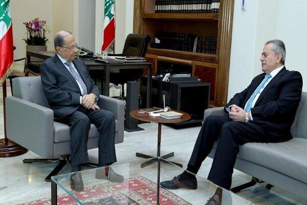 بیروت میں ایرانی سفیر کی لبنانی صدر سےملاقات