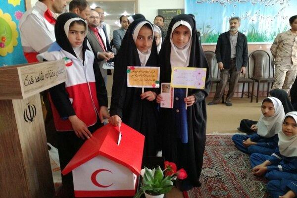 سیل مهربانی در مدارس شهرستان سرایان