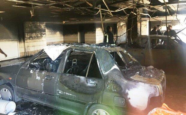 حریق ساختمان ۵ طبقه در شیراز ۹ مصدوم برجا گذاشت