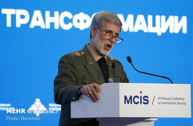 Iran defense min. at Moscow security conf.
