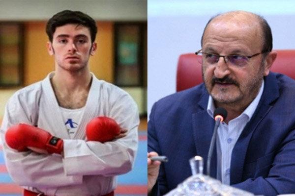 استاندار قزوین کسب مدال در رقابتهای جهانی کاراته را تبریک گفت