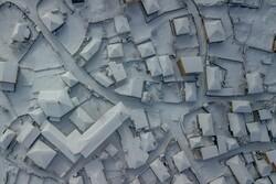 برف زمستانی در بهار مازندران