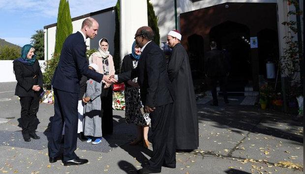 برطانوی شہزادے کا کرائسٹ چرچ کی مساجد کا دورہ