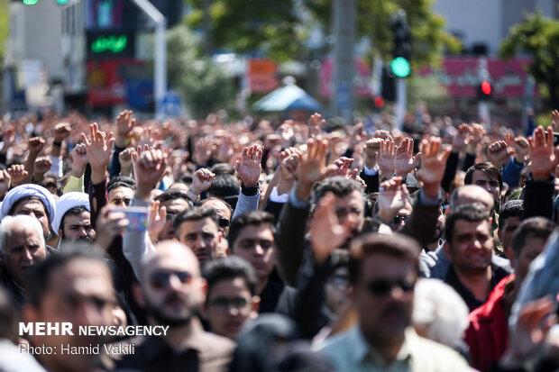 تشییع پیکر مطهر شهید مدافع حرم «مجید قربانخانی»_۲