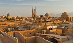 The skyline of Yazd, a UNESCO-registered city in central Iran