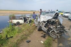 تصادف در محور بندرترکمن -آق قلا یک کشته و ۲ مصدوم بر جای گذاشت