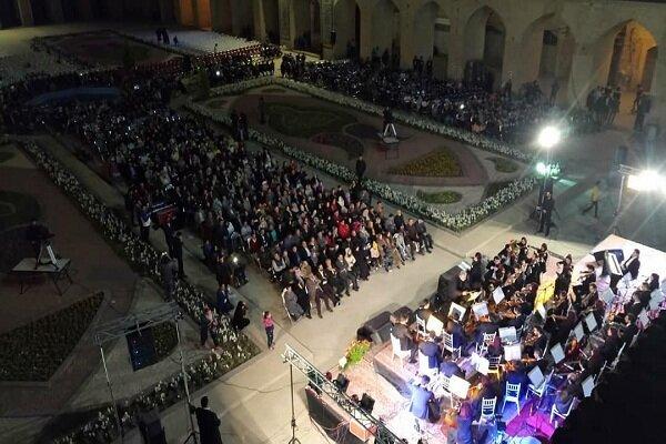 برگزاری ارکستر ملی در میدان تاریخی گنجعلیخان کرمان