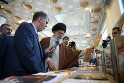 Iran's Leader visits Tehran Intl. Book Fair