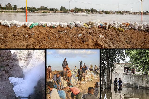 سیل خوزستان و لرستان به خاک آسیب زیادی زده است