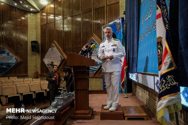 نشست خبری امیر دریادار حسین خانزادی فرمانده نیروی دریایی ارتش