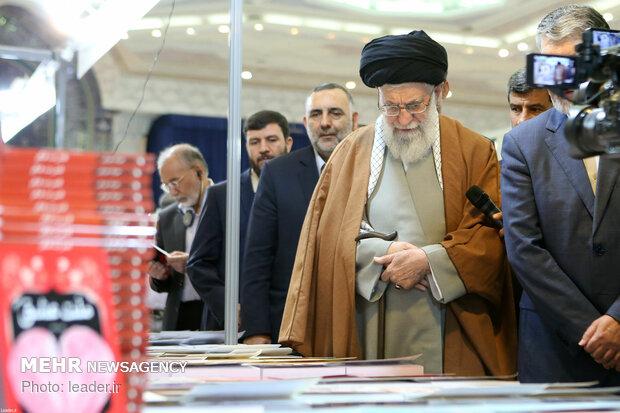 Iran's Leader visits Tehran Intl. Book Fair