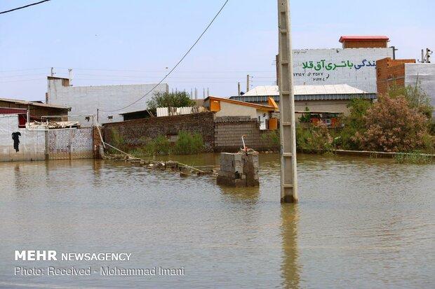 آخرین وضعیت سیل و امداد رسانی در آققلا
