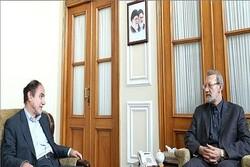 لاریجانی با مدیرعامل و اعضای هیأت مدیره بیمه مرکزی دیدار کرد
