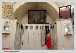 An interior view of Sarpulak Bathhouse in downtown Tehran