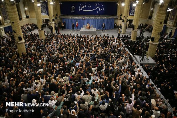 Ayatollah Khamenei's meeting with teachers