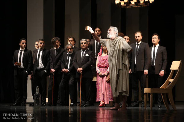 """Socrates"" on stage at Tehran theater"