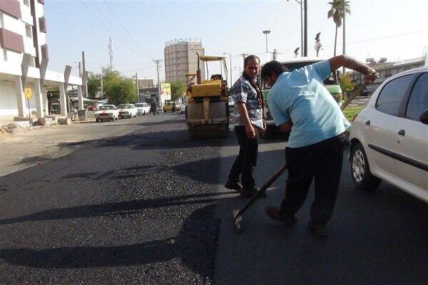 فعالیت ۱۲۲ اکیپ عمرانی برای ترمیم و لکهگیری آسفالت معابر تهران