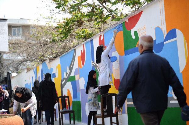 رنگ آمیزی جدارههای شهری با مشارکت شهروندان