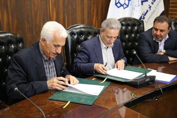 تفاهمنامه همکاری دانشگاه لرستان با هیئت ویژه بررسی سیل امضاء شد