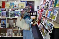 A woman visits the 32nd Tehran International Book Fair on April 29, 2019. (Fars/Mehdi Marizad)