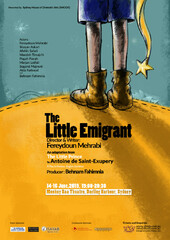 "A poster for ""The Little Emigrant""."