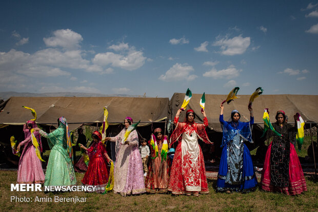 Traditional wedding ceremony of nomads in Fars province