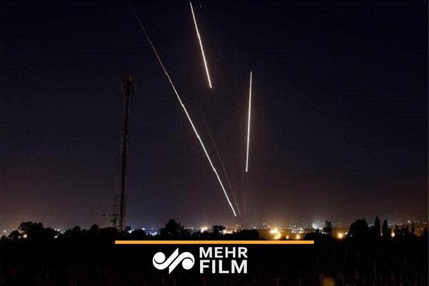 غزہ سے صہیونی بستیوں پر میزائلوں سے حملہ