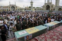 قم میں مدافع حرم دو شہیدوں کی تشییع جنازہ