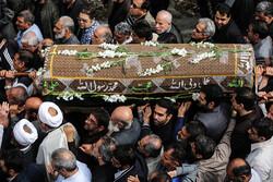 شہید طہرانی مقدم کی والدہ مرحومہ کی تشییع جنازہ